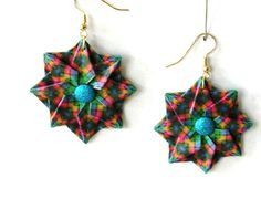 Origami Earrings   Paper Jewelry  Origami by PaperImaginations