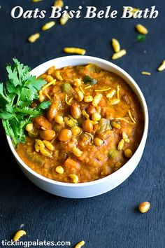 Oats Bisi Bele Bath recipe with step by step photos. This famous Karnataka special meal made using quick cooking oats, which makes a whole meal in itself.with BISi BELE BATH MAsala powder
