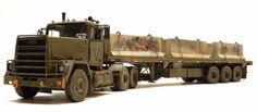 Iraq Oshkosh HETT Guntruck.