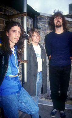 Kurt Cobain, Dave Grohl and Krist Novoselic #Nirvana