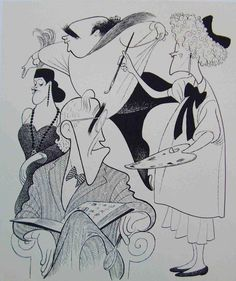 "Al Hirschfeld's take ""You Can't Take It With You."" What do you think?"