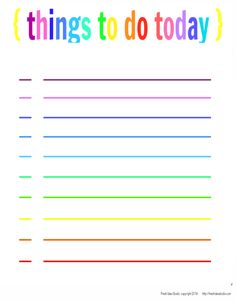 a Cute Colorful To Do list makes staying organized easy  Free Printable from Fresh Idea Studio
