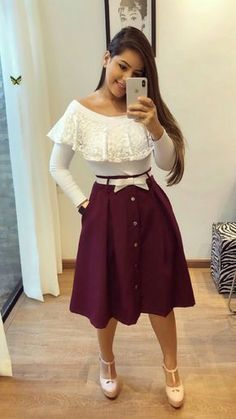 Shop sexy club dresses, jeans, shoes, bodysuits, skirts and more. Trend Fashion, Cute Fashion, Modest Fashion, Hijab Fashion, Girl Fashion, Fashion Dresses, Modest Outfits, Skirt Outfits, Dress Skirt