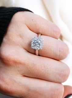 Gorgeous floral-inspired halo diamond engagement ring   Joseph Jewelry   Bellevue   Seattle   Online   Designers of Fine Custom Jewelry