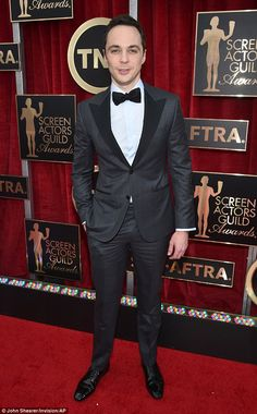 Suited up: Jim Parsons was nominated for Outstanding Performance by a Male Actor in a Comedy Series at the SAG Awards