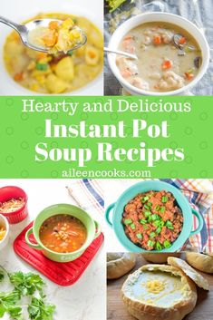 Look no further for the best instant pot soup recipes! We have a full list of instant pot recipes that will fulfill your soup craving. Chinese Soup Recipes, Hearty Soup Recipes, Healthy Recipes, Simple Recipes, Amazing Recipes, Hot And Sour Soup, Ham And Bean Soup, Instant Pot Pressure Cooker, Pressure Cooker Recipes