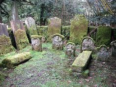 Burial enclosure at the site of Minto Old Parish Church by Walter Baxter, via Geograph