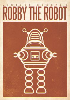 vintage robots I by zapum , via Behance