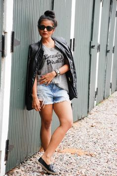 street style, grunge, olivia and joy, biker jacket, distressed denim, boston blogger, my name necklace, hangar and fox, abercrombie and fitch, topknot, forever21, indian blogger, ootd, love playing dressup, carrie necklace
