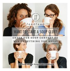It's on!!! We've partnered with @thefeedfeed to launch a soup contest. Lots of prizes! Win as an individual or be a soup club hero and win enough to start your own club. To enter post an image of a soup you've made on Instagram and tag it #feedfeed@thefeedfeed #contest or regram a soup you made and posted in the past and tag it #feedfeed@thefeedfeed #contest You must FINALIZE your entry on feedfeed.info/SoupContest. Good luck!!! Can't wait to see what you've been cooking.