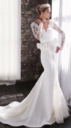 Wedding dress idea; Featured Dress: Steven Khalil
