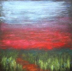 "Saatchi Art Artist Julie Hansen; Painting, ""Goodnight Indian Summer"" #art"