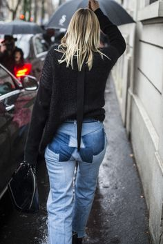 Celine Aagaard wearing Vetements at Milan Fashion Week.