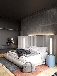 The main objective of the Ok Loft was to unite three separate apartments into a single functional space. The loft style was taken as a basis. Design Loft, Deco Design, House Design, Spacious Living Room, Living Room Grey, Modern Loft Apartment, Apartment Design, Apartment Living, Modern Bedroom