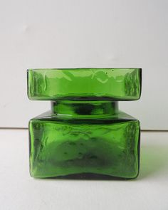 HELENA TYNELL for Riihimäen lasi Pala Vase Green by BringTheNoise Finland
