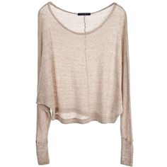 SHOP SUSTAINABLE FASHION - Brandy Melville Kayla Knit Sweater ($51) ❤ liked on Polyvore