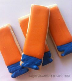 Nerf gun cookies. Awesome treat for a Nerf birthday party.