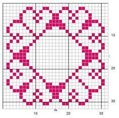 Schema punto croce Motivo k1