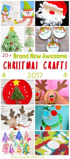 Bored of the same old Christmas craft ideas? Here's 20+ AWESOME BRAND NEW CHRISTMAS CRAFTS not to be missed! Grab the kids for a fun and festive craft time.