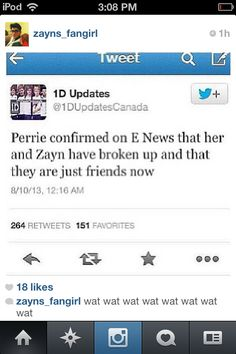 "Perrie did NOT confirm that her and Zayn were 'just friends' The person said ""we all know Perrie is dating Zayn"" and Perrie nodded & agreed."