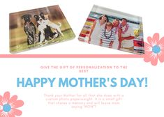 Give your mother or any mother in your life a personalized gift for Mother's Day! Personalized Mother's Day Gifts, Customized Gifts, Happy Mothers Day, Mother Day Gifts, Mom Quotes, Custom Photo, Small Gifts, Etsy Seller, Memories