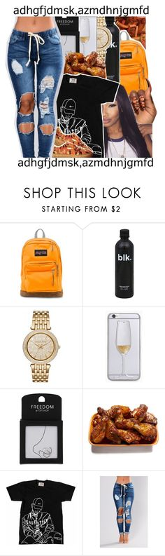 """""""Untitled #955"""" by issaxmonea ❤ liked on Polyvore featuring JanSport, Michael Kors, Topshop, GET LOST and Puma"""