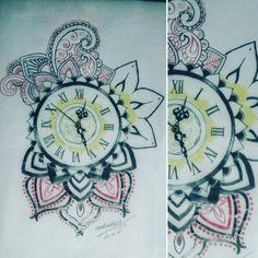 Mandala clock custom design