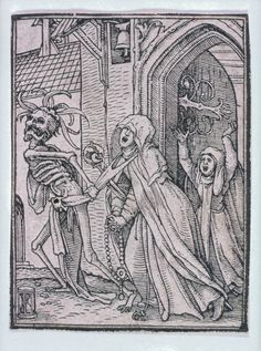 Hans Holbein, the Younger (German, 1497 or 1498–1543), Hans Luetzelburger (German, 1522) The Abbess (Dance of Death) | Museum of Fine Arts, Boston