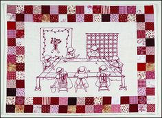 Quilting Bee Designs Redwork Embroidery Patterns, CDs, Instructional DVDs