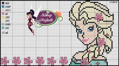 Queen Elsa Frozen Fever pattern - Ponto Cruz da Drayzinha