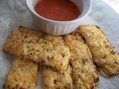 Cauliflower Bread Sticks.  No flour = Healthy!