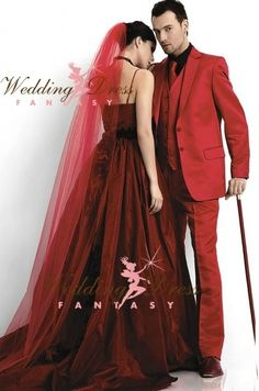 Wedding Dress Fantasy - Vampire Red Wedding Dress Available in Every Color, $785.00 (http://www.weddingdressfantasy.com/vampire-red-wedding-dress-available-in-every-color/)