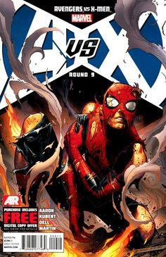 Vingadores versus X-Men 09 capa de Jim Cheung