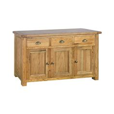 Direct Home Living Country Solid Oak Large Sideboard - Dining Room from Direct Home Living UK Living Uk, Dining Chairs, Home, Fabric Seat, New Furniture, Chair, Home And Living, Oak, Solid Oak