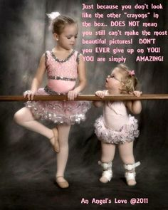 Down Syndrome ballerina. So precious. Perfectly sweet little girl <3