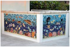 outdoor ceramic tiles, frost free tiles, tropical fish tiles