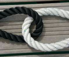 Black and White Rope (tie the knot)