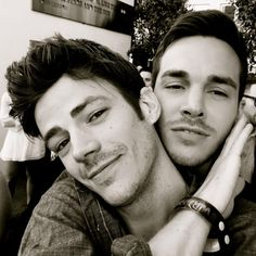 Grant Gustin and Chris Wood at San Diego Comic Con, July 10. 2015
