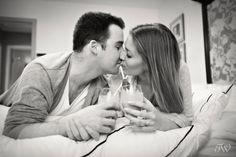 Calgary Engagement Photographer | Valentine's Day | Breakfast in bed | Tara Whittaker Photography