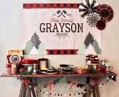 Little Lumberjack Birthday Party on Kara's Party Ideas | KarasPartyIdeas.com (1)