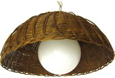 Midcentury Wicker & Glass Pendant on @One Kings Lane Vintage & Market Finds by Ruby + George