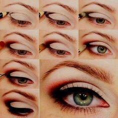 Easy smoky eye makeup green eyes beautiful eyes, make up, smoky - eye makeup, eyes, - eye makeup Beauty Make-up, Beauty Hacks, Hair Beauty, Beauty Tips, Fashion Beauty, Beauty Stuff, Beauty Trends, Ladies Fashion, Beauty Secrets