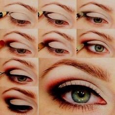 60s Glamour Eye Makeup #Tutorial! Very Lana Del Rey-looking...