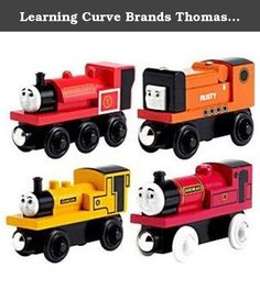 "Learning Curve Brands Thomas and Friends Wooden Railway - Narrow Gauge Engine Giftpack. As seen in the ""Engines & Escapades"" DVD! This 4-car engine pack features Rheneas, Duncan, Skarloey and Rusty. It's a great value over each item's separate price!."