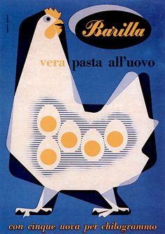 Erberto Carboni - Vera pasta all'uovo,manifesto