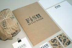 branding identity for a seafood restaurant by Ross Allan