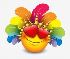 smiley love carnival icon