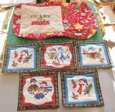 Cookies for Santa Placemat and Mug Rugs