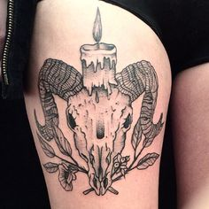 "#goat #skull #candle #cleinow #hand_job_tattoo #berlin #toe #loop #black #grey #dotwork #blackworkers To follow me choose your way •_*  On Tumblr"""""" gael-cleinow-tattoo.tumblr.com/  On Facebook••• https://www.facebook.com/GaelCleinow  On Instagram*** instagram.com/cleinow"