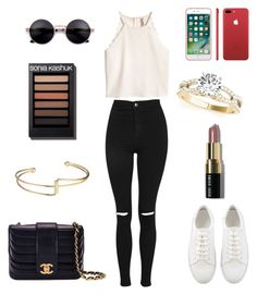 """""""🌼"""" by eliane102015 ❤ liked on Polyvore featuring Topshop, Bobbi Brown Cosmetics and Chanel"""